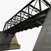 Steelbridge na betonie 3d model