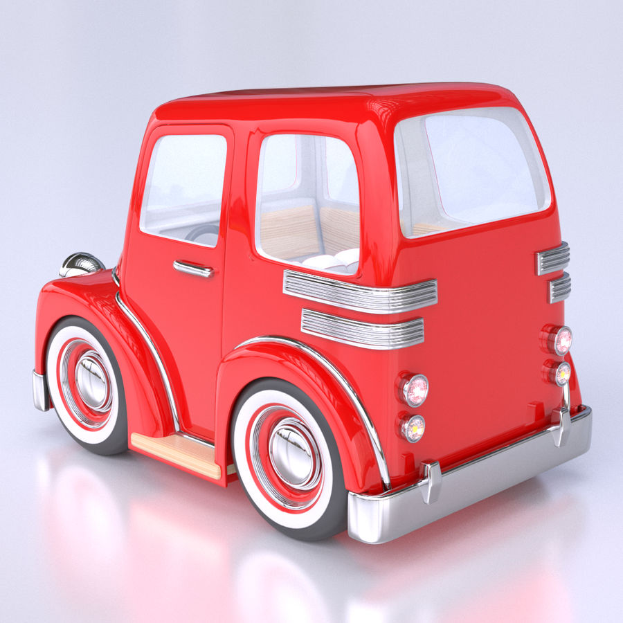 Cartoon Truck / Car royalty-free 3d model - Preview no. 3