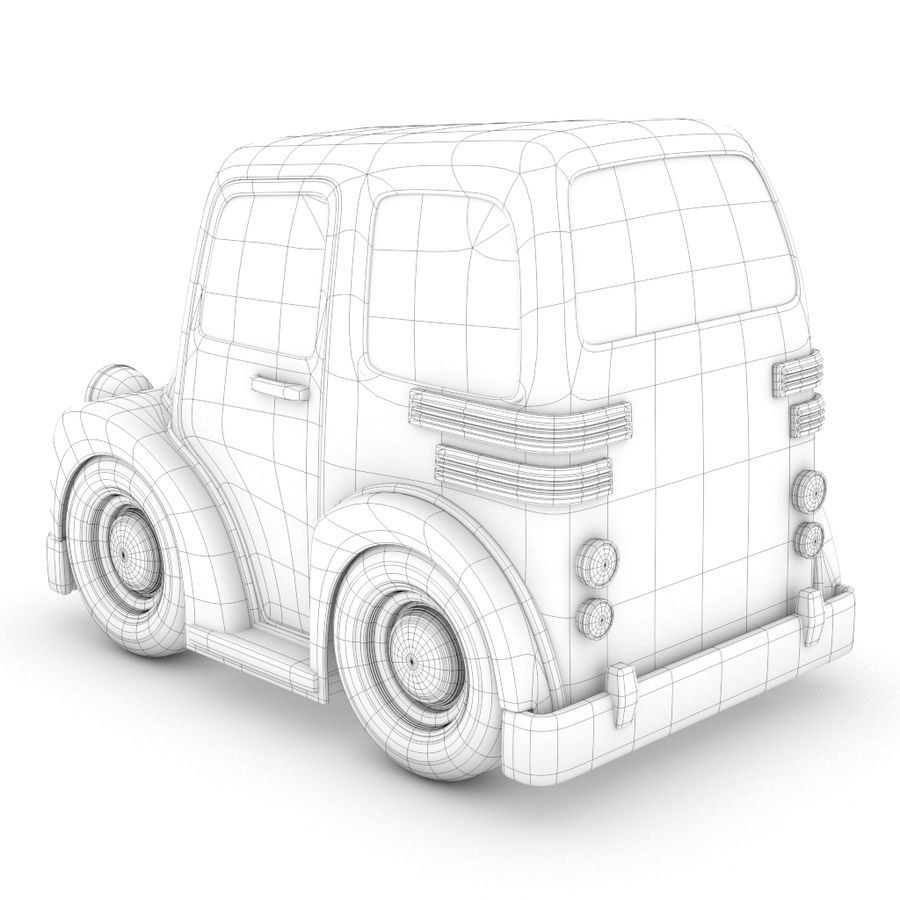 Cartoon Truck / Car royalty-free 3d model - Preview no. 4