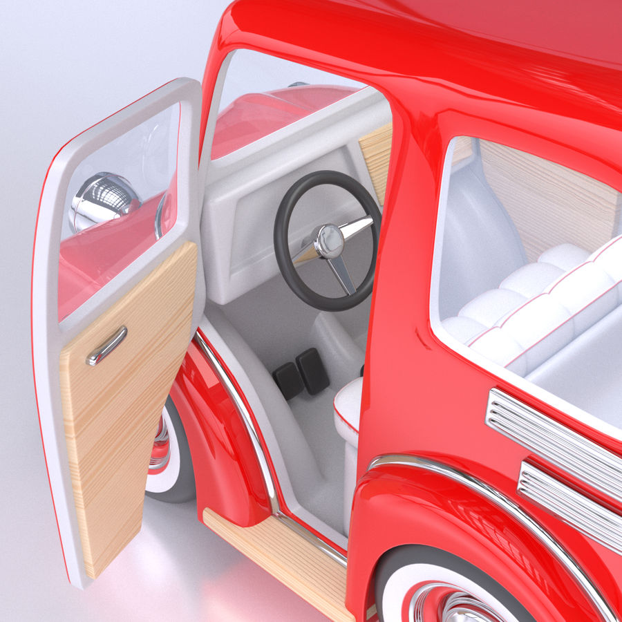 Cartoon Truck / Car royalty-free 3d model - Preview no. 5
