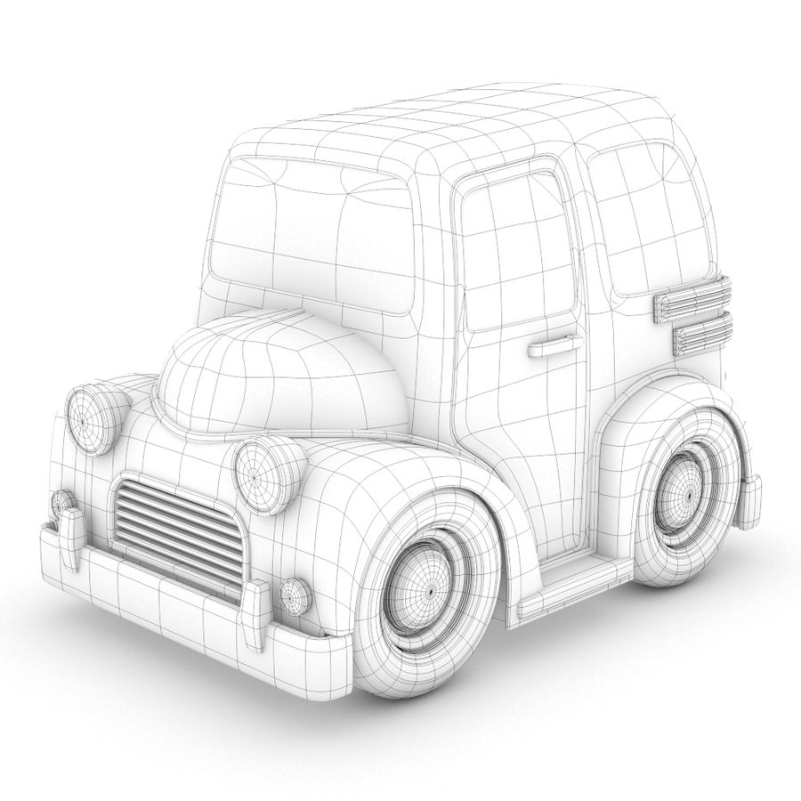 Cartoon Truck / Car royalty-free 3d model - Preview no. 1