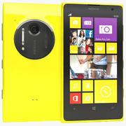 Nokia Lumia 1020 желтый 3d model