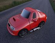 Automobile rossa del fumetto 3d model