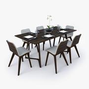 Juego de mesa de comedor modelo 3d