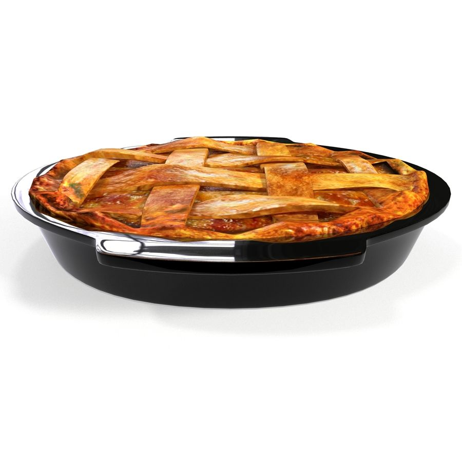 Apple Pie royalty-free 3d model - Preview no. 5