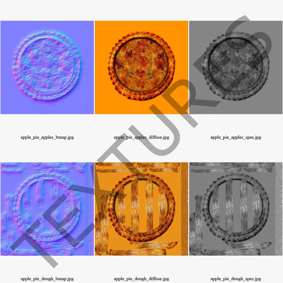 Pie de manzana royalty-free modelo 3d - Preview no. 20