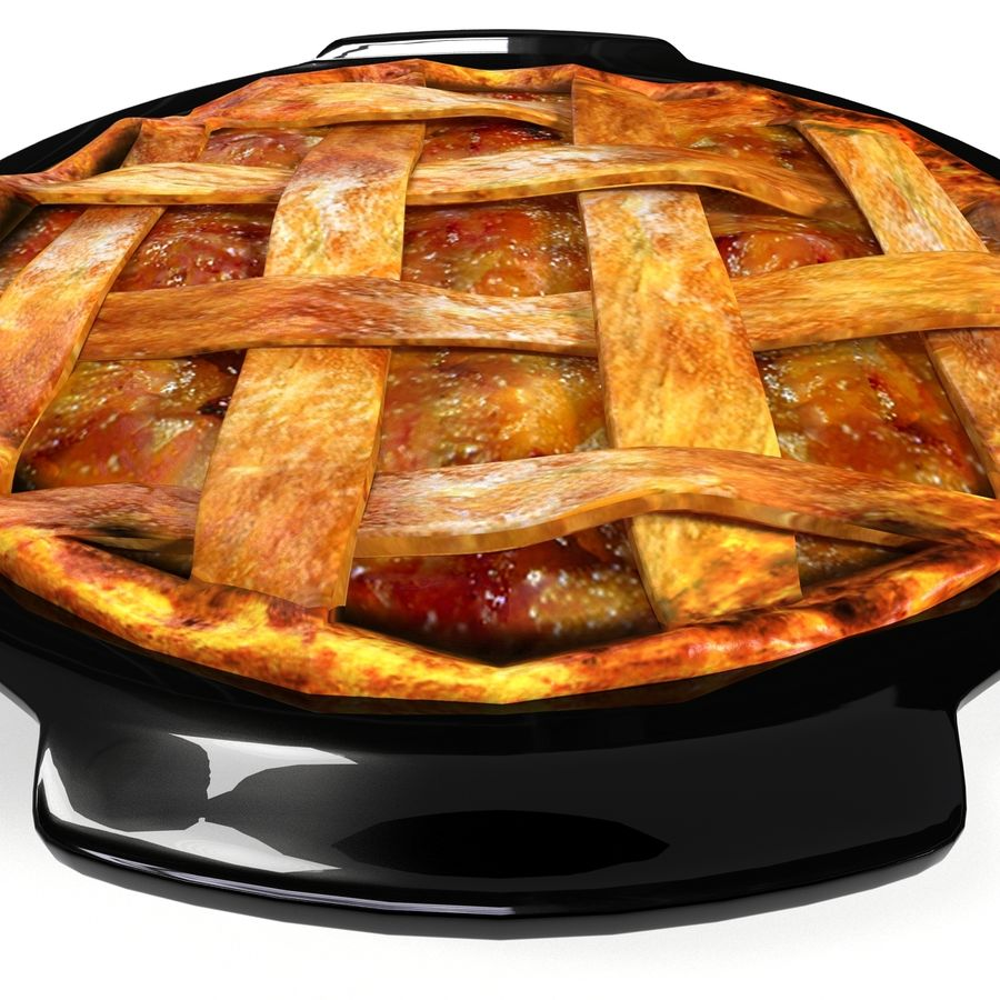 Apple Pie royalty-free 3d model - Preview no. 10