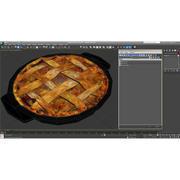 Pie de manzana modelo 3d