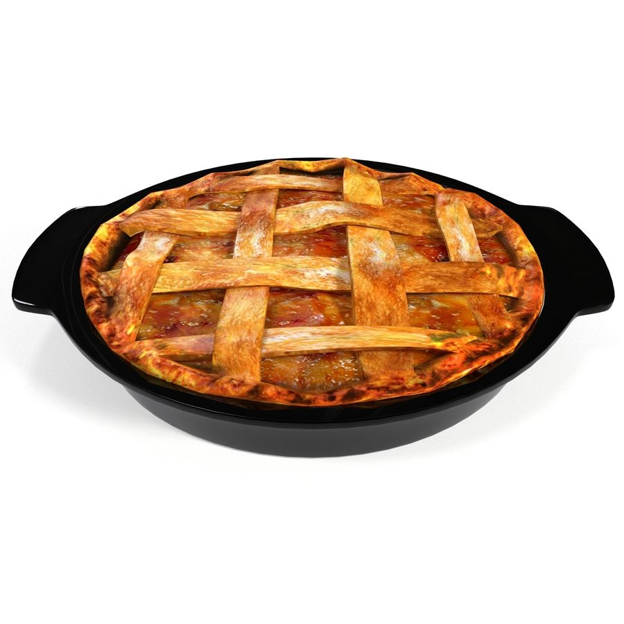 Apple Pie royalty-free 3d model - Preview no. 4