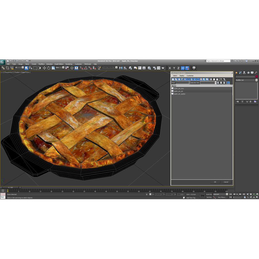 Apple Pie royalty-free 3d model - Preview no. 18