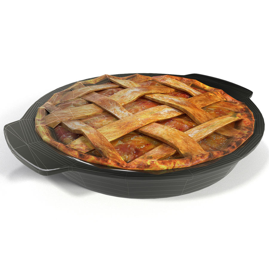 Pie de manzana royalty-free modelo 3d - Preview no. 3