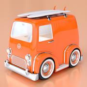 Cartoon Combi Surf Van 3d model