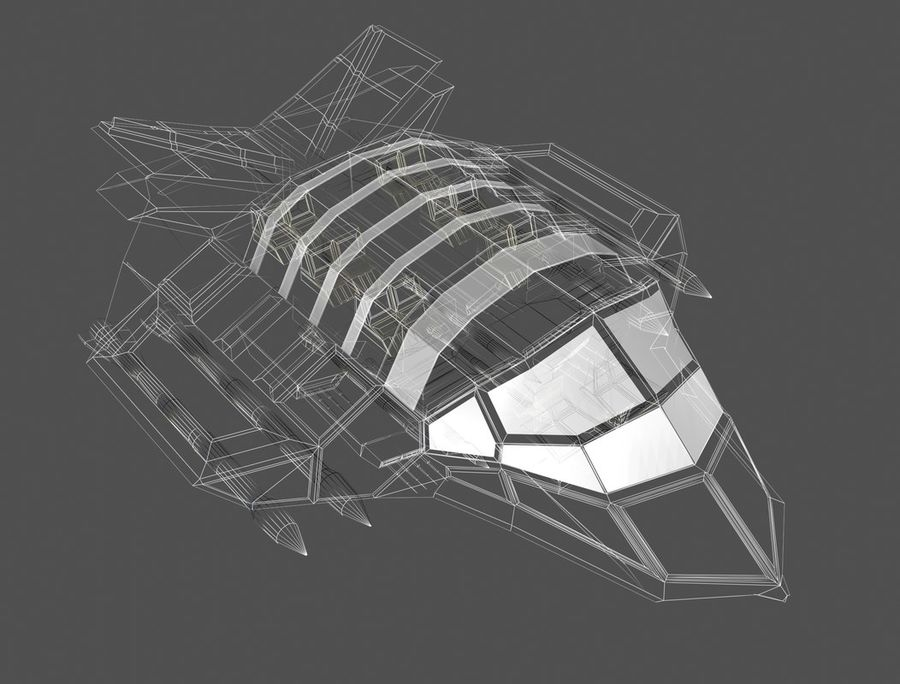 space ship royalty-free 3d model - Preview no. 16