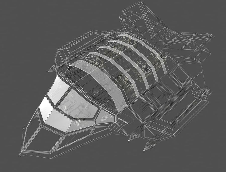 space ship royalty-free 3d model - Preview no. 15