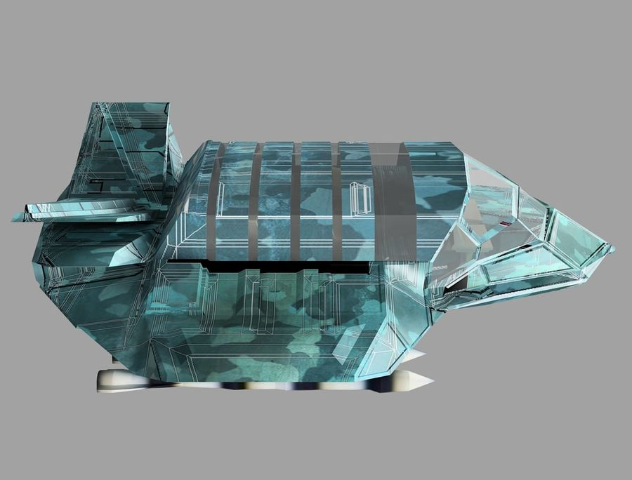 space ship royalty-free 3d model - Preview no. 19