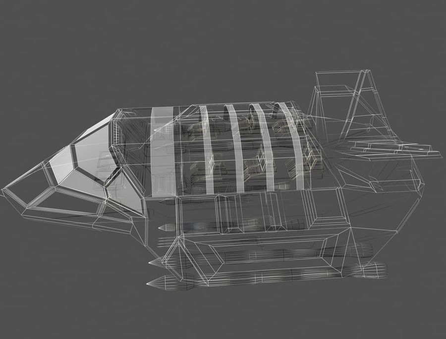 space ship royalty-free 3d model - Preview no. 14