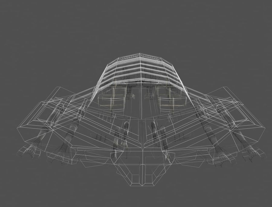 space ship royalty-free 3d model - Preview no. 12