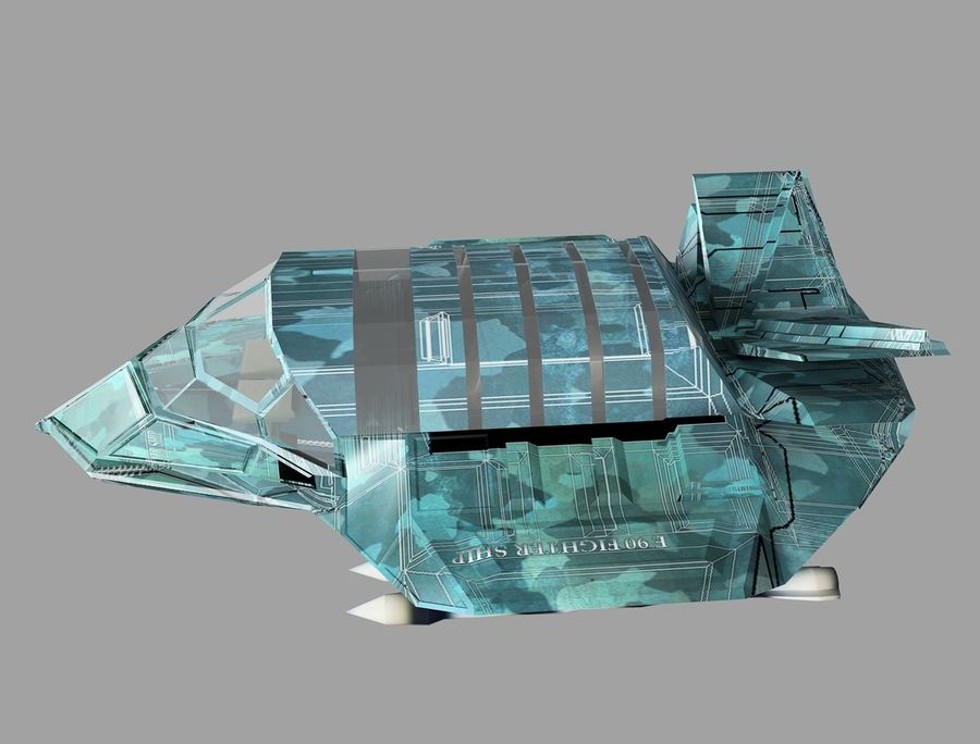 space ship royalty-free 3d model - Preview no. 20