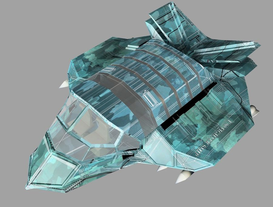 space ship royalty-free 3d model - Preview no. 21