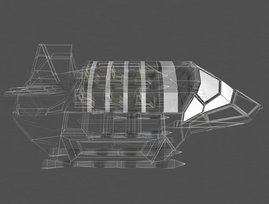 space ship royalty-free 3d model - Preview no. 13