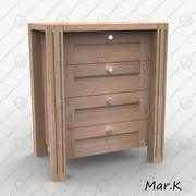 chest of drawers 2 3d model