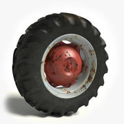 Old Tractor Tire 3d model