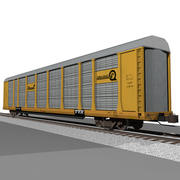 Voiture de train: Conrail Autorack 3d model