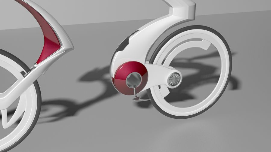 Concept race bike royalty-free 3d model - Preview no. 3