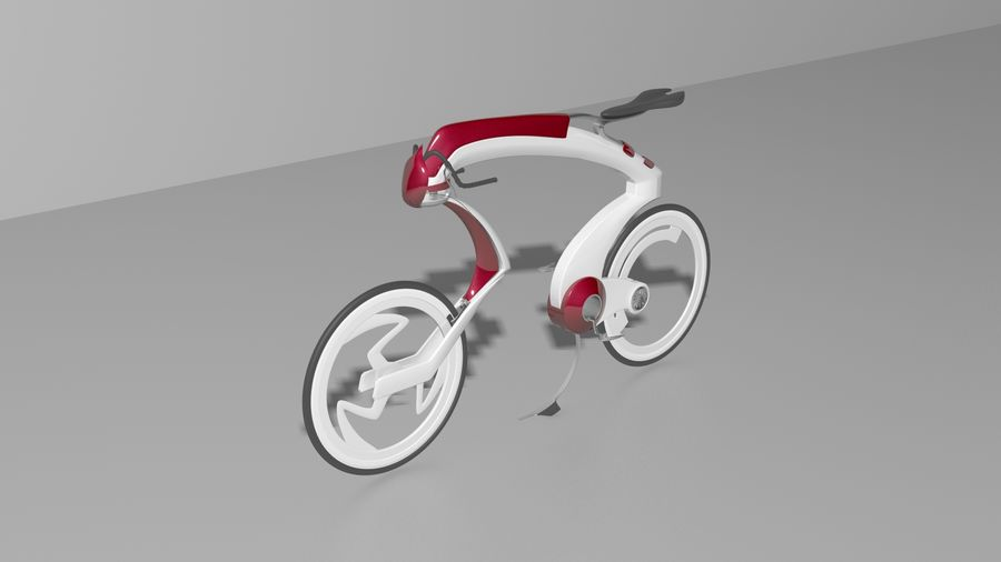 Concept race bike royalty-free 3d model - Preview no. 1