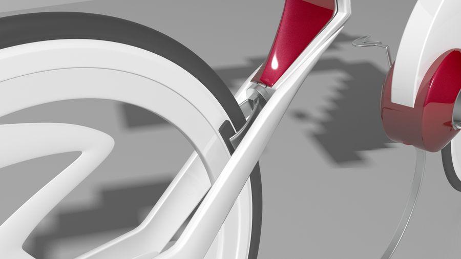 Concept race bike royalty-free 3d model - Preview no. 5