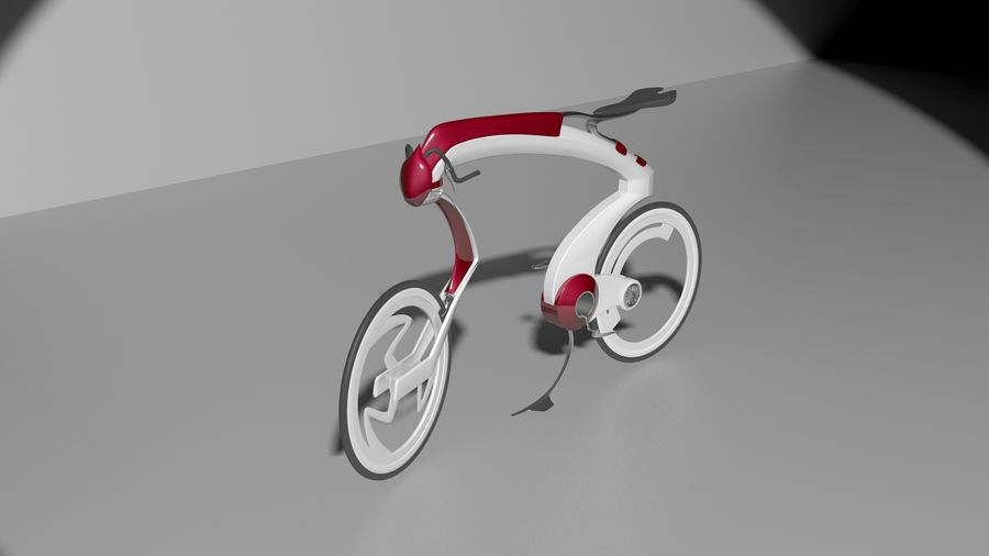 Concept race bike royalty-free 3d model - Preview no. 2