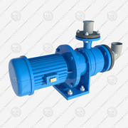 electric motor pump 3d model
