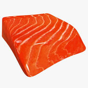 Somon Balığı Tabağı 3d model