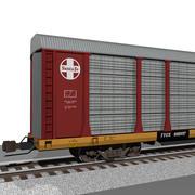 Voiture de train: Santa Fe Autorack 3d model