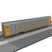 Voiture de train: BNSF Autorack 3d model