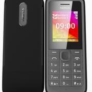 Nokia 107 Dual SIM Black 3d model