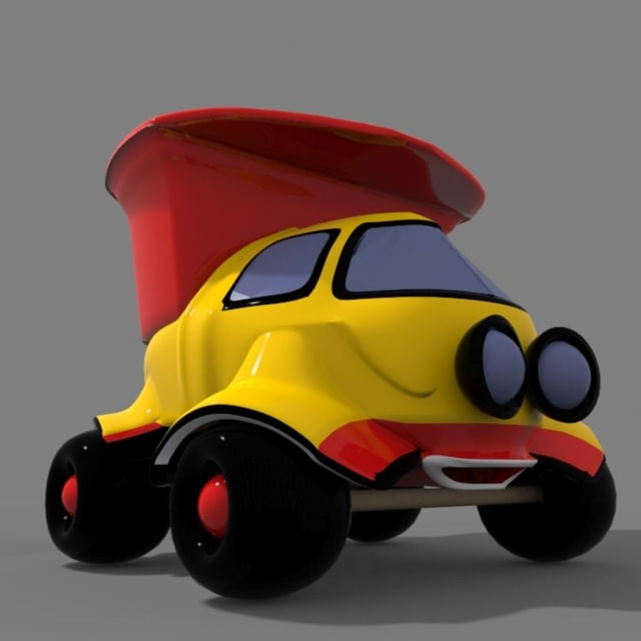 cartoon truck royalty-free 3d model - Preview no. 7