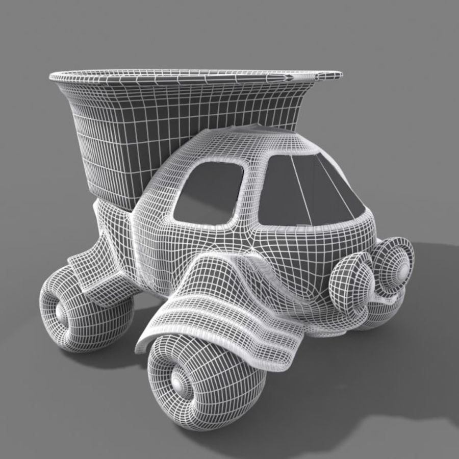 cartoon truck royalty-free 3d model - Preview no. 10