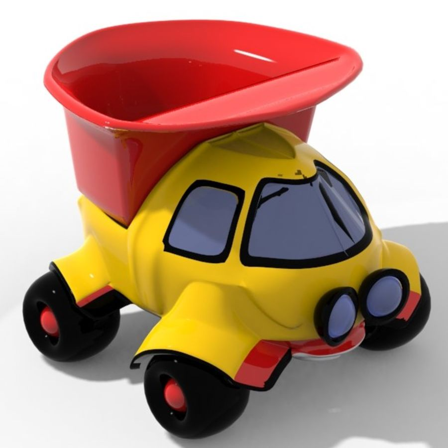 cartoon truck royalty-free 3d model - Preview no. 1