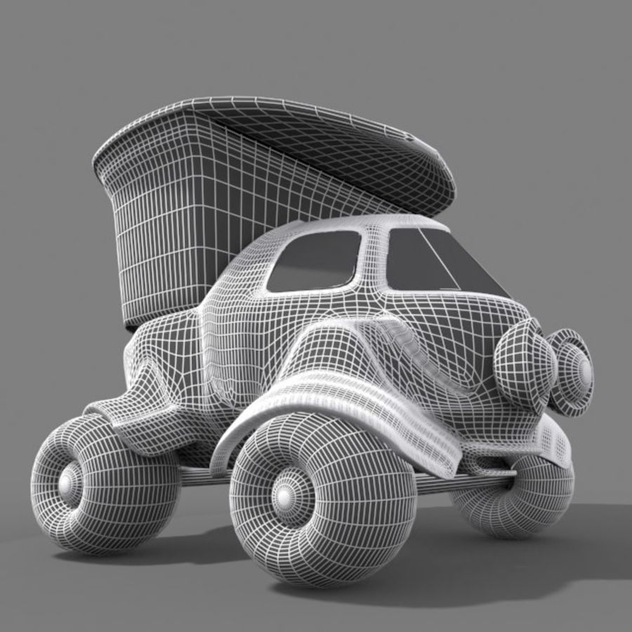 cartoon truck royalty-free 3d model - Preview no. 9