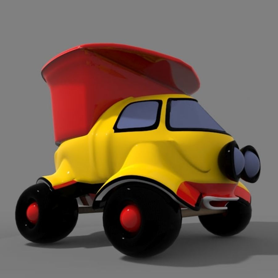 cartoon truck royalty-free 3d model - Preview no. 8
