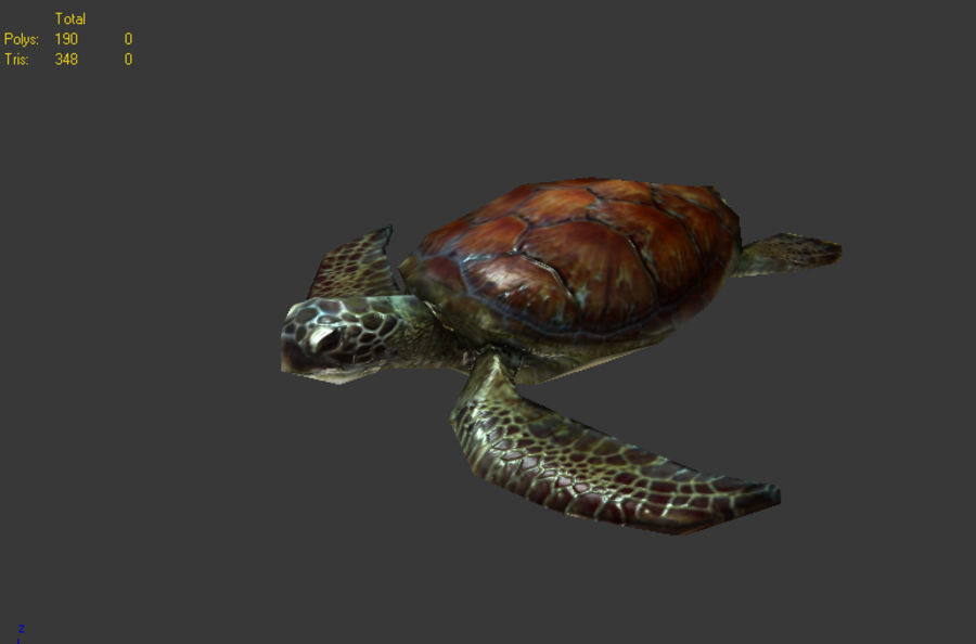 tortuga marina royalty-free modelo 3d - Preview no. 1