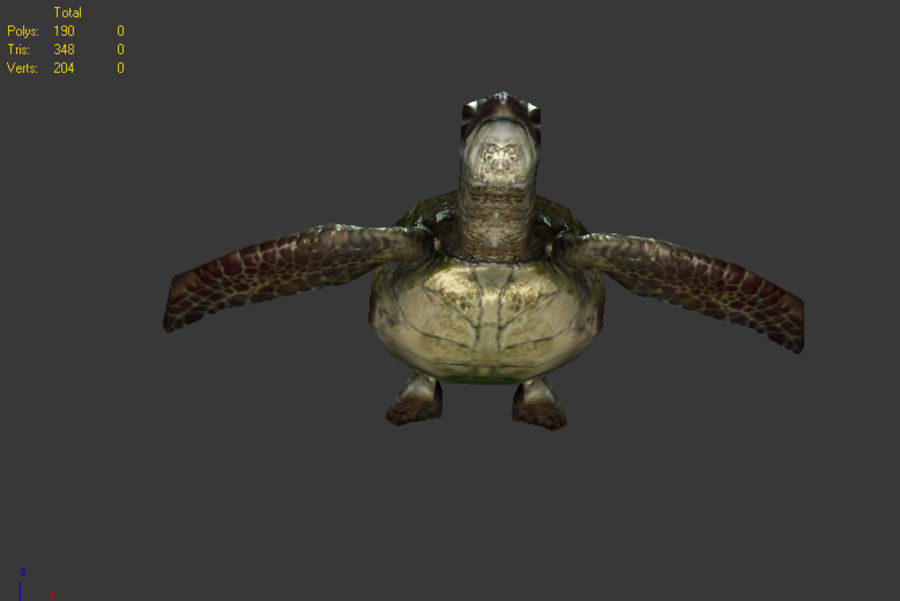 tortuga marina royalty-free modelo 3d - Preview no. 5