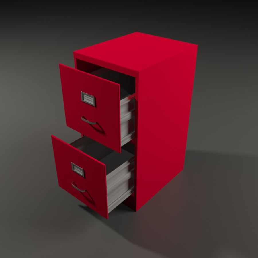 File cabinet royalty-free 3d model - Preview no. 2