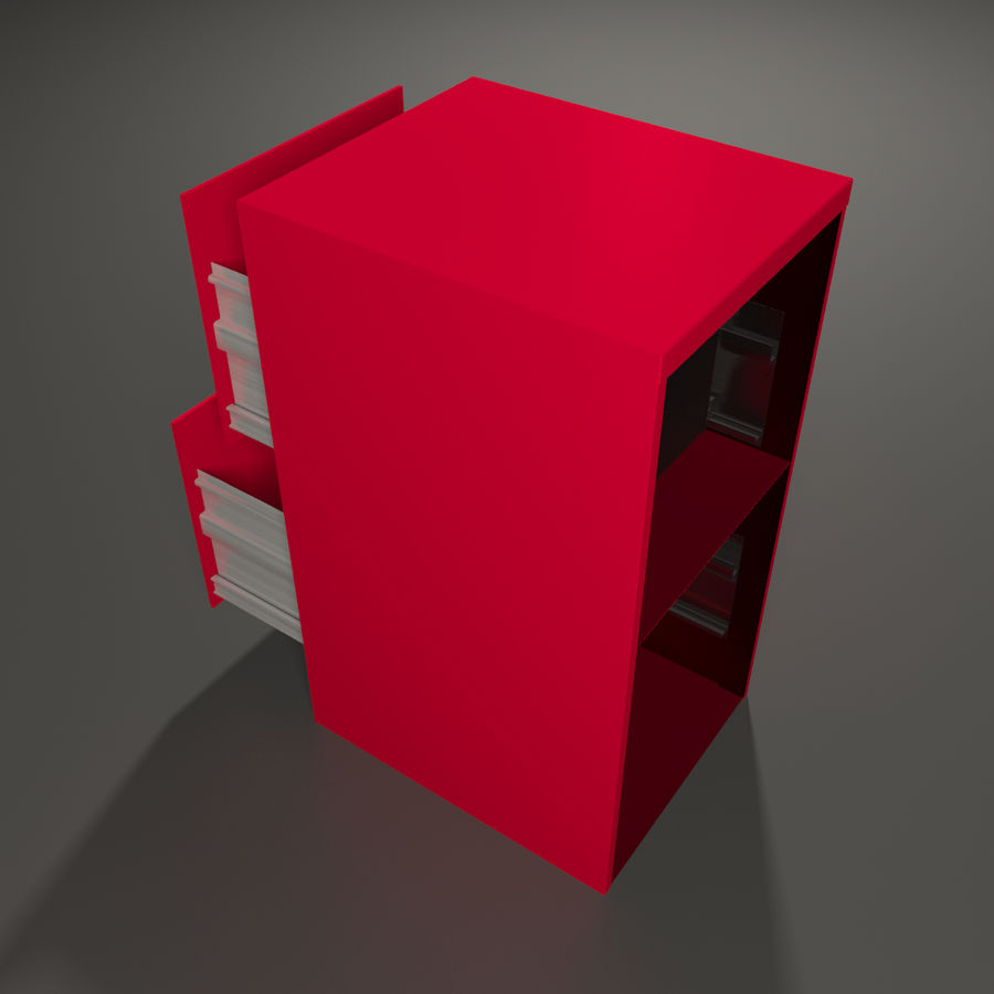 File cabinet royalty-free 3d model - Preview no. 3