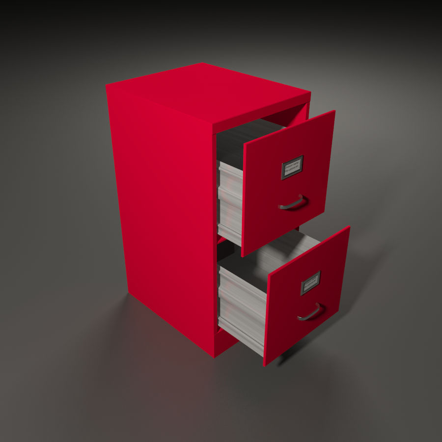 File cabinet royalty-free 3d model - Preview no. 1