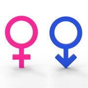 性别符号 3d model