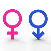 性別記号 3d model