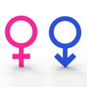 Símbolos de género modelo 3d