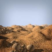 岩石地形 3d model